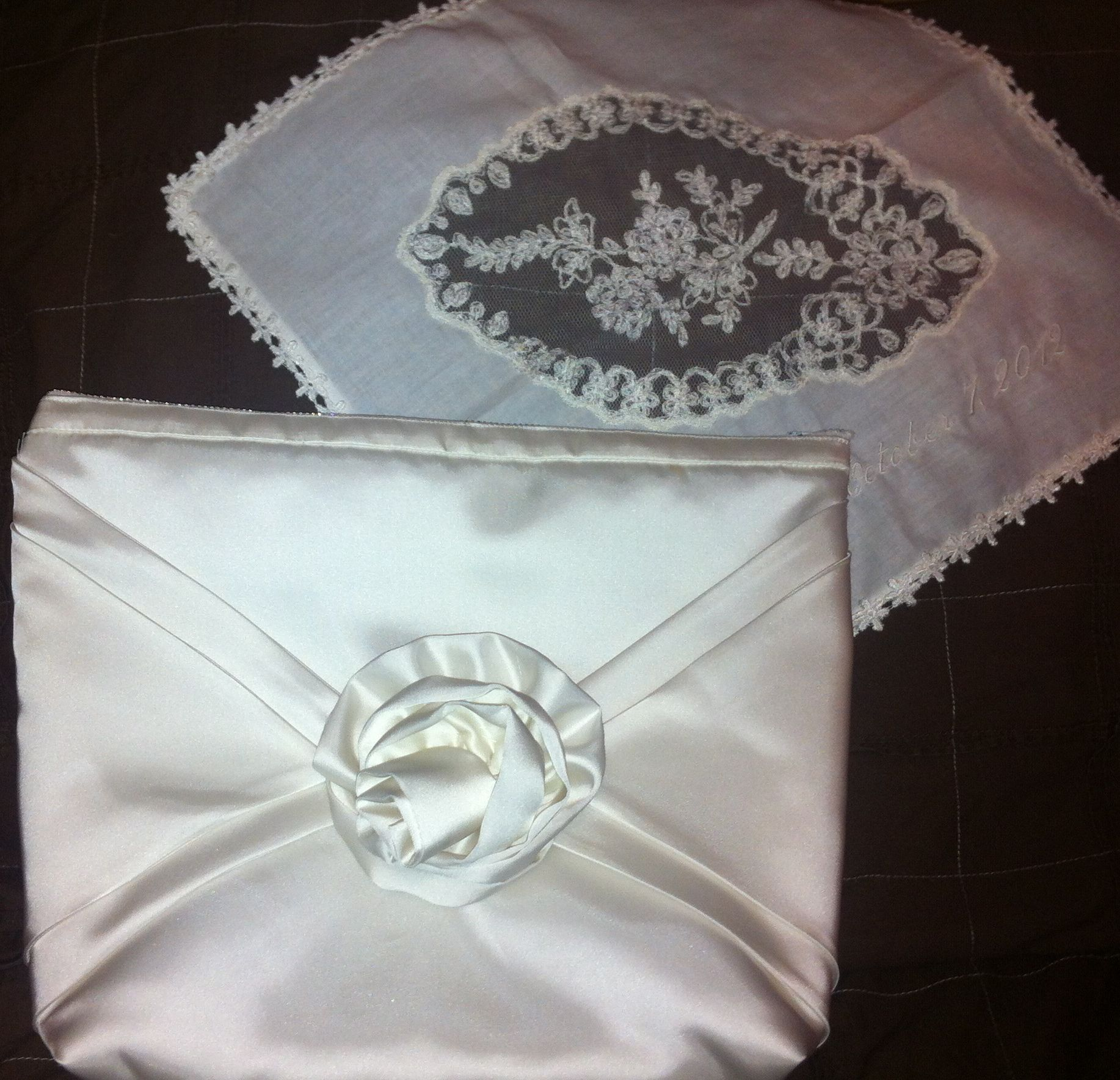 My 29 Year Old Wedding Dress Transformed Into Clutch And