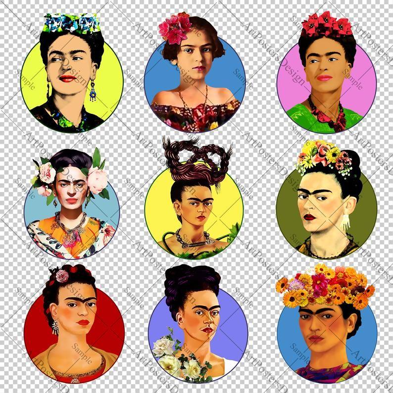 Frida Kahlo Png Clipart Set Frida Avatar For Social Media Etsy In 2021 Clip Art Frida Kahlo Cartoon Etsy Social Media