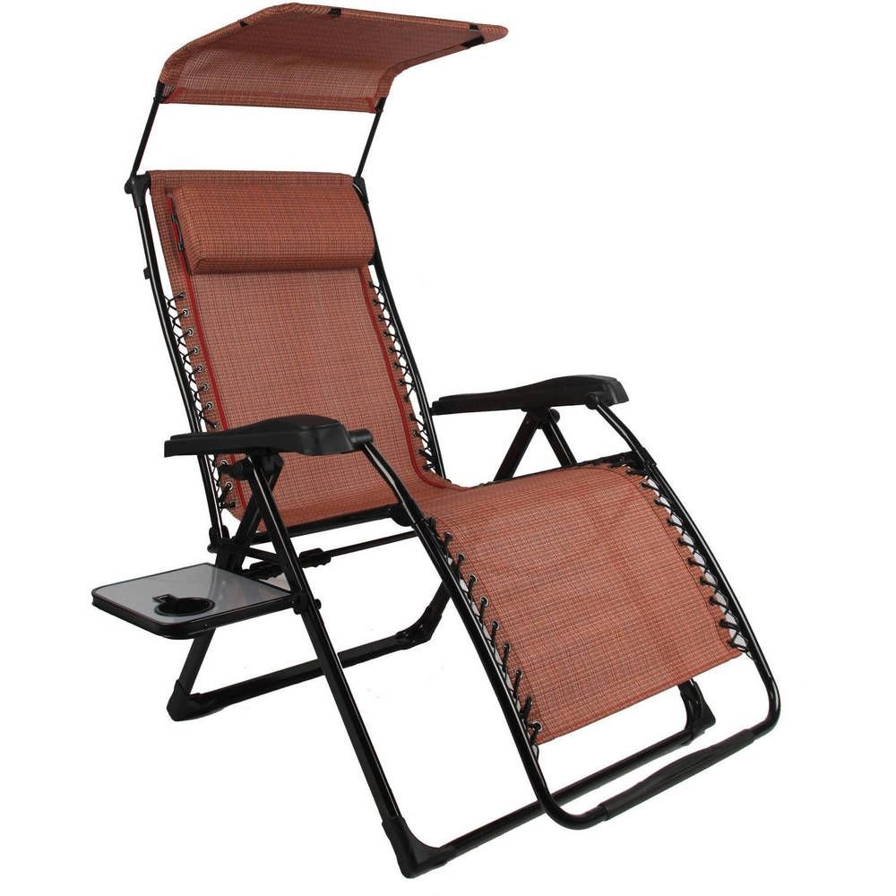 Zero gravity chair side table canopy outside patio beach furniture