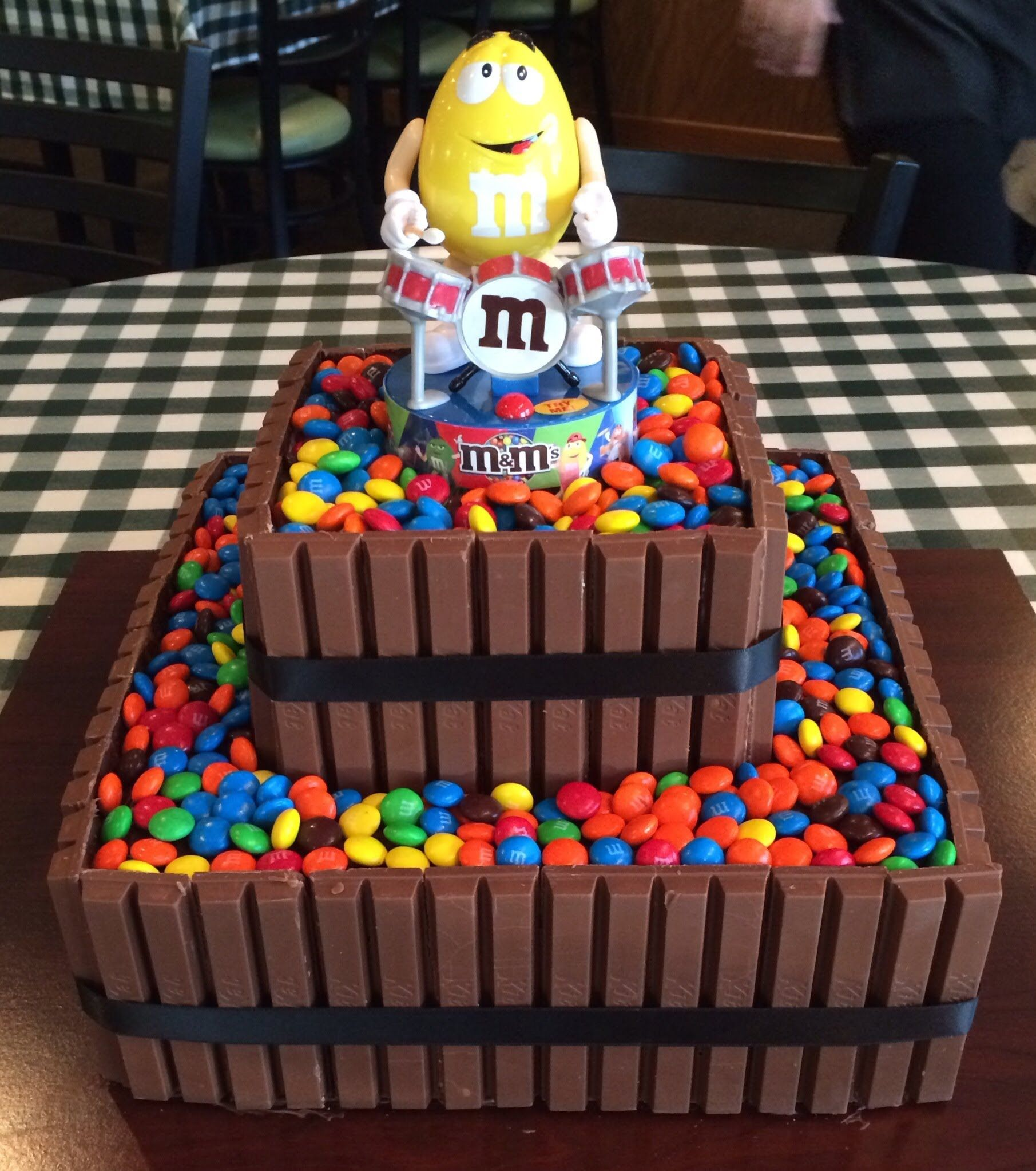 chocolate cake with twix and m&m's Google Search