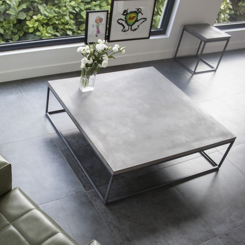 Table Basse Beton Table De Salon Design Table Basse Design Meeting Room Design Table Concrete Coffee Table