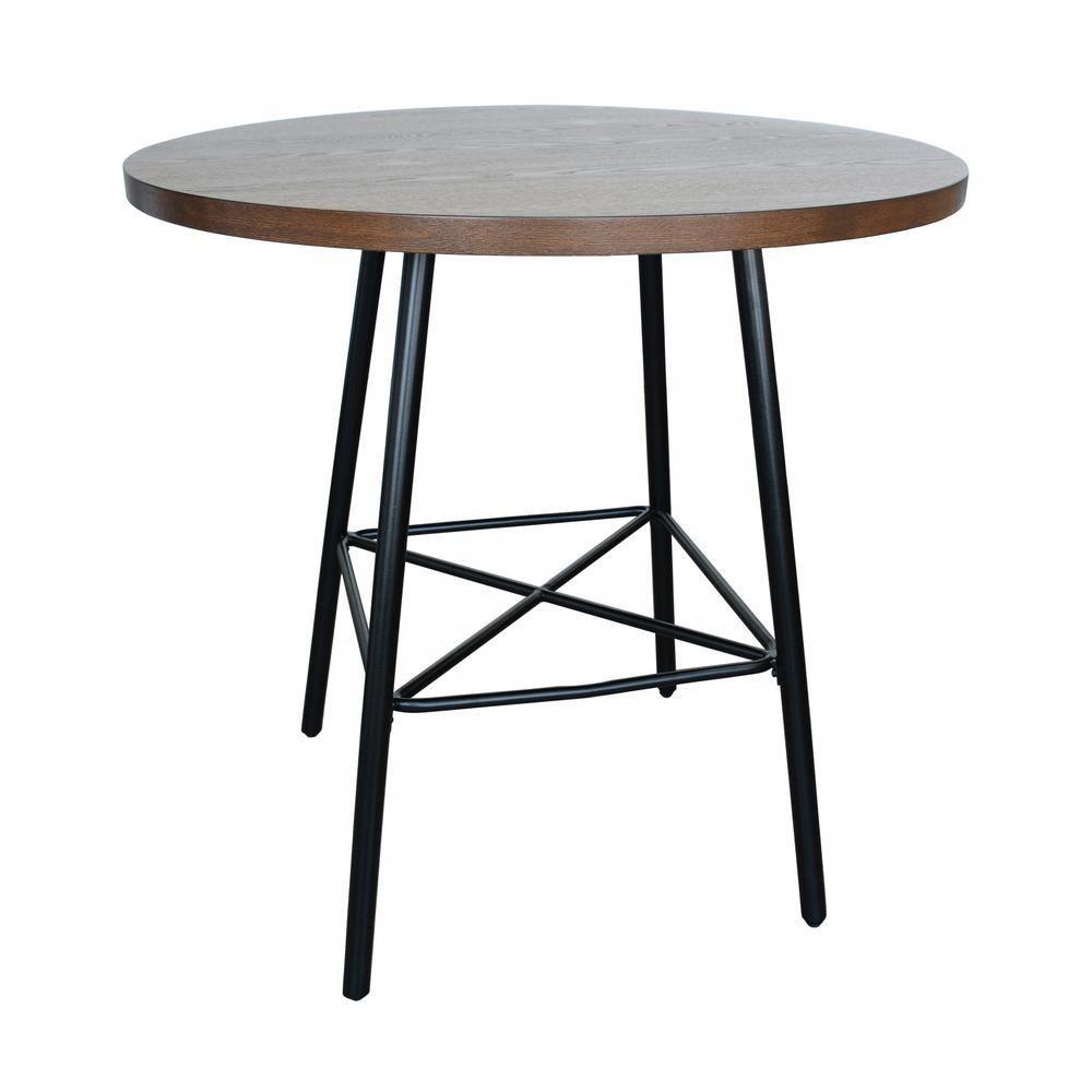 de7cf642cfb Illona Elm 36 in. Round Counter Height Bar Table