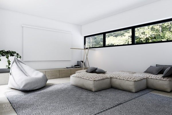 There is a distinct luxury in simplicity this luxembourg house from architect katarzyna kuo stolarska takes this idea to the extreme with a simple