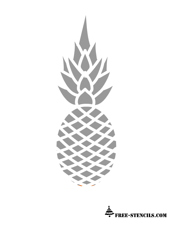 It is a graphic of Crafty Pineapple Stencil Printable