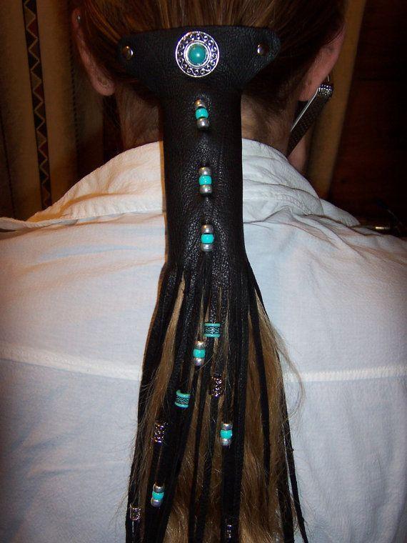 Ponytail Holder Made From Deerskin Leather Stuff I Make - Diy ponytail wrap