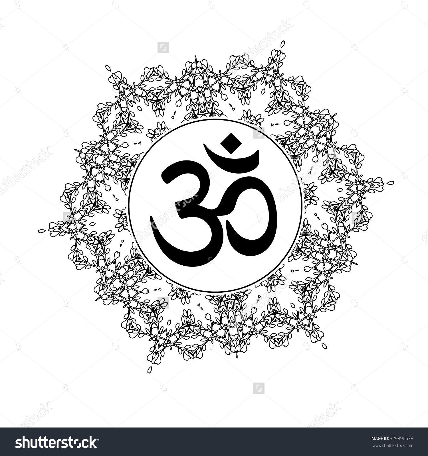Diwali om symbol with mandala great design for tattoo yoga diwali om symbol with mandala great design for tattoo yoga studio spirituality concepts buycottarizona Gallery