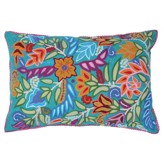 Gorgeous Colors and Details - I would like to base a room off of this pillow. Andhra Pillow