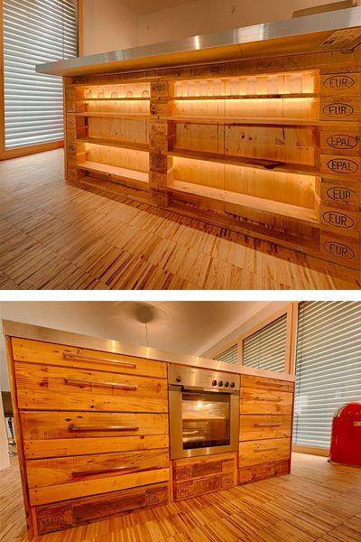 Palettenküchenideen Möbel aus paletten, Design für zuhause