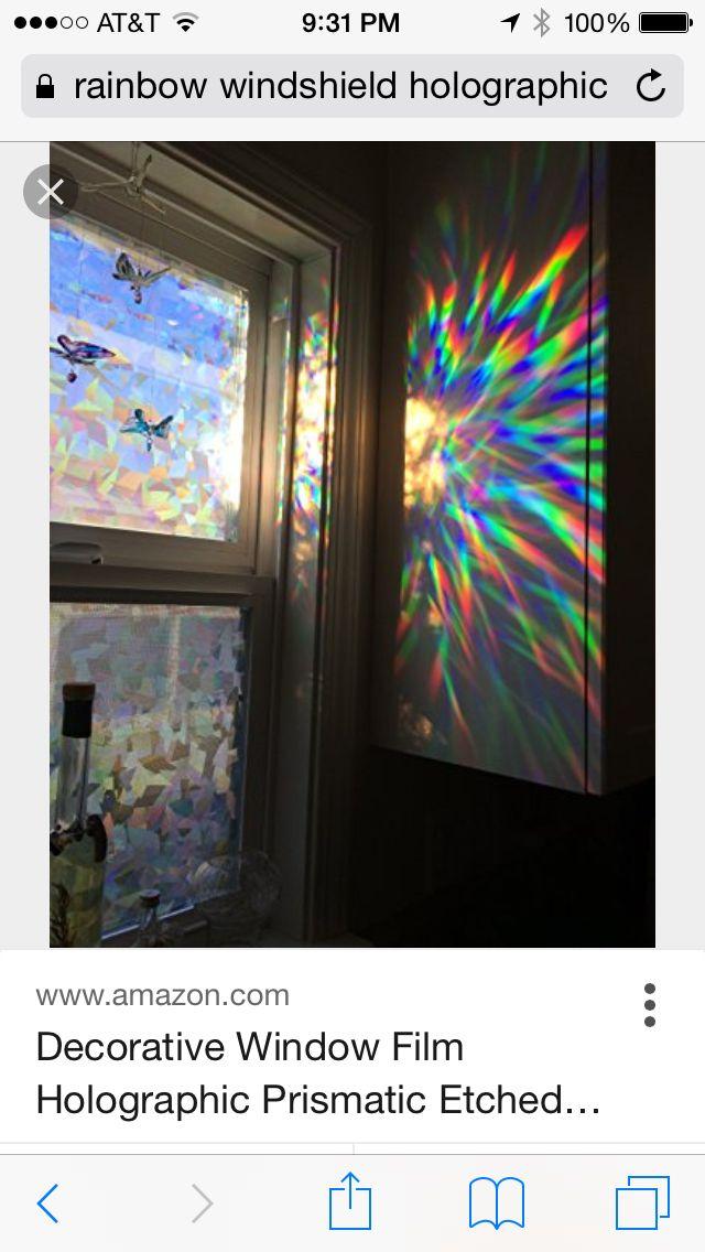 Pin By Uwu123 On Art At Lo Decorative Window Film Window Decor Holographic Film