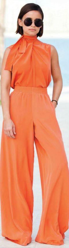 orange head-to-toe