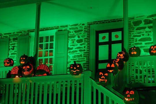 The Halloween Porch Light Code Halloween Porch Halloween Porch Lights Halloween Porch Decorations