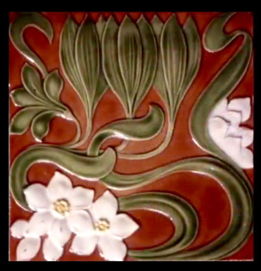 Zsolnay art nouveau tile jugendstilartdeco pinterest art zsolnay art nouveau tile dailygadgetfo Images