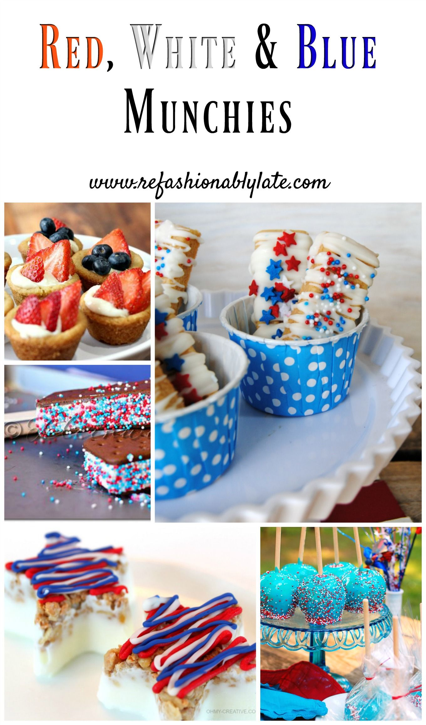 Red, White & Blue Themed Munchies Great for Labor Day! www.refashionablylate.com