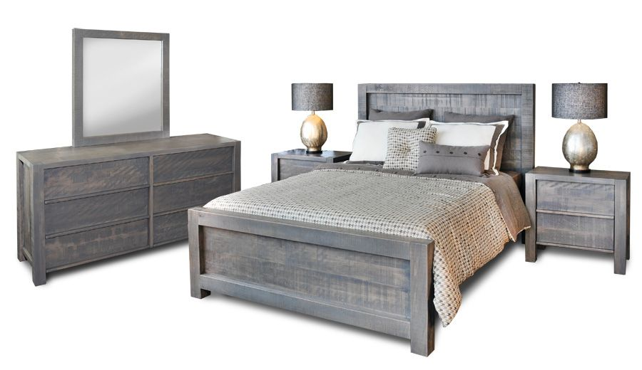 Weathered Gray Wood Beds Bedrooms Wood Beds Grey Wood
