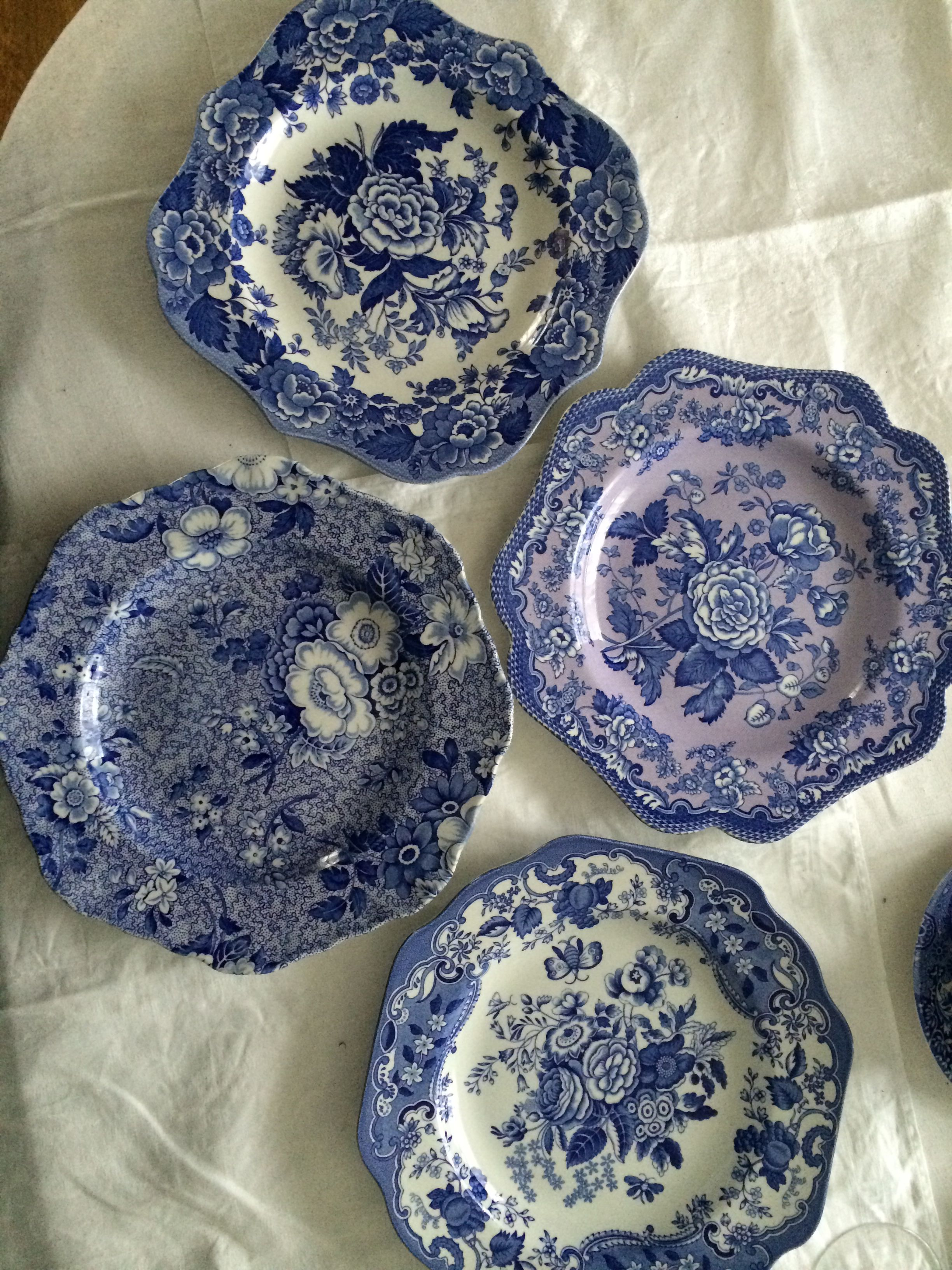 Spode Garden Series Salad Plates Blue White Decor Blue And White China Blue And White Blue and white salad plates