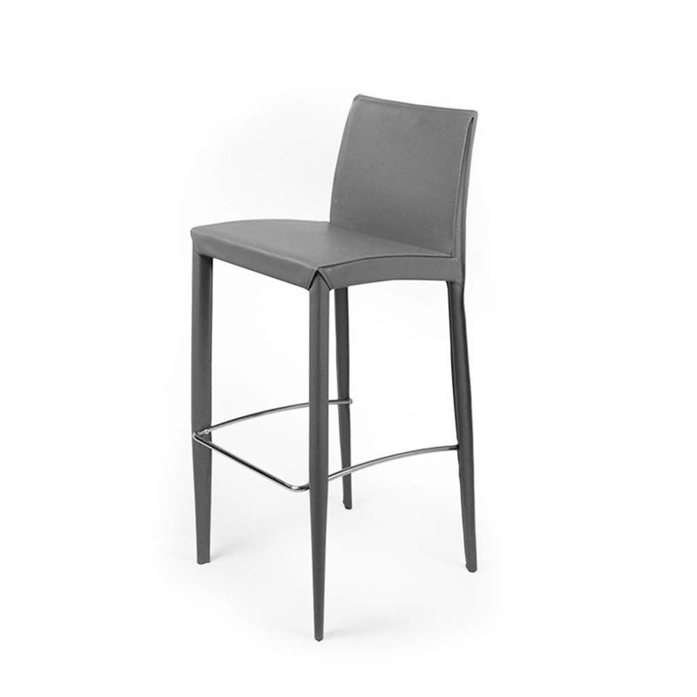 Counter Stools Modern Design Backs Kitchen Backrest Hard Leather Seat Stainless Steel Barstools Modern Dinin Modern Bar Stools Bar Stools Modern Counter Stools