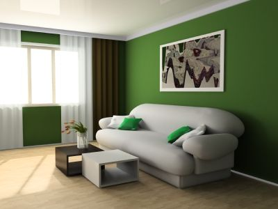 Beau Rooms With Light Green Walls | Green Furniture Against White, Or Other  Neutral Colored Walls