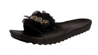 b26a3764698e Ladies Women Flower Beach Casual Holiday Summer Jelly Sandals Flip Flops  Shoes