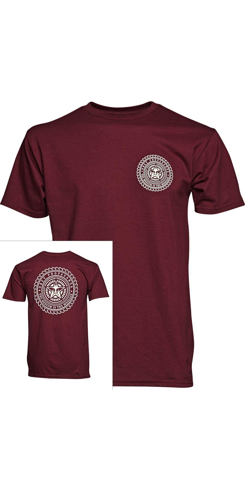The Medium 163080559 T Shirts Bordeaux Fra Obey Dkk 300 L Street Wear T Shirt Shirts