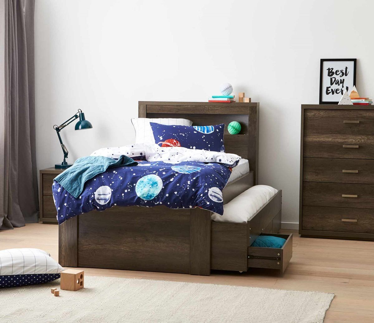 Kids Living Arc Bedroom Suite Charcoal Bedroom Furniture