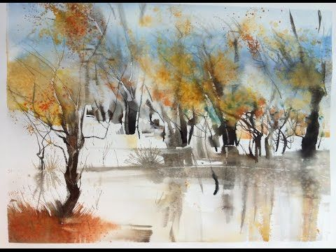 Un Village Provencal A L 39 Aquarelle Watercolor Tutorial