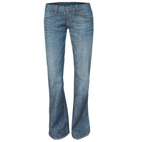 RALPH LAUREN Blue Label $245 slim boot cut jeans 29 NEW faded denim Bedford