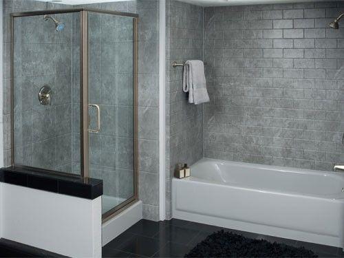 Grey Bathtub Liner Sedona Apron Arctic Matte Subway Tile