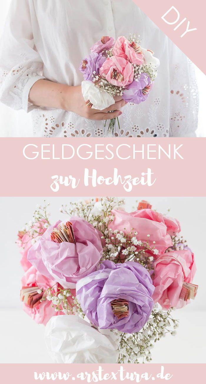 Geldgeschenk Zur Hochzeit Blumen Aus Papier Basteln