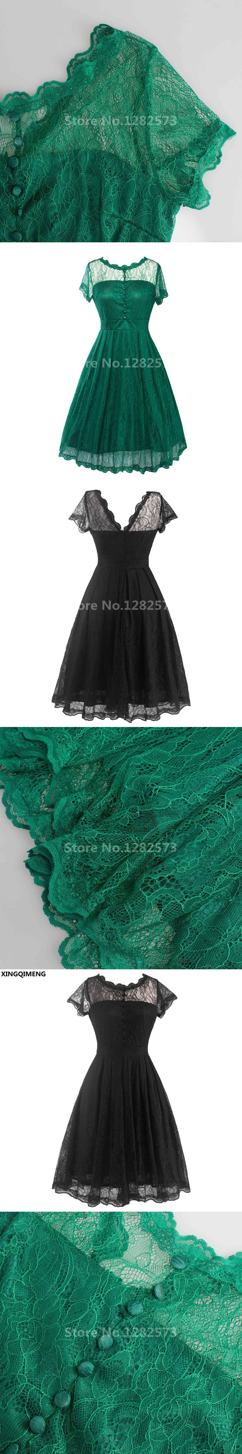 In stock cheap simple little black dress lace short cocktail dresses