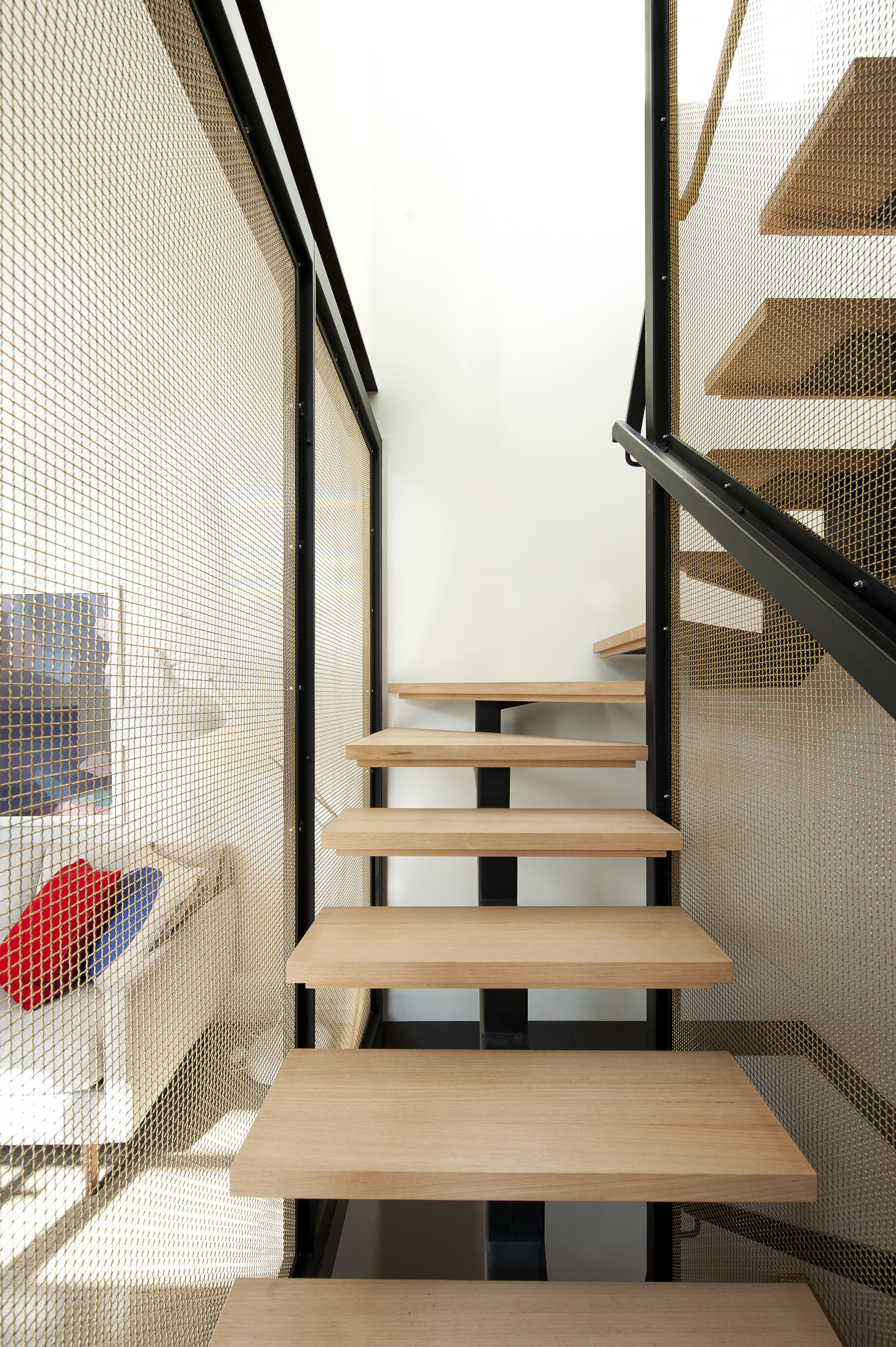 Steel Centre Carriage - Feature - Stair - Industrial -