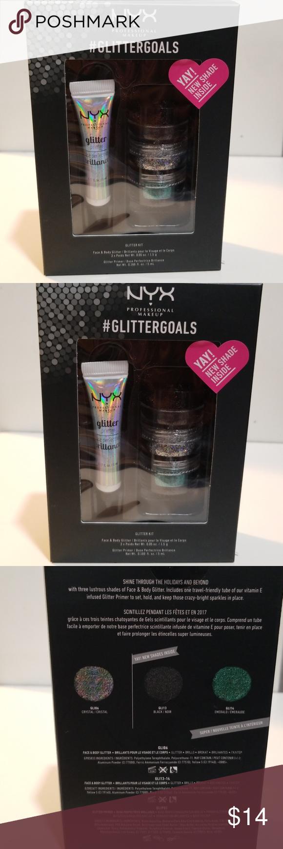 NYX Glitter Kit Body glitter, Glitter, Nyx makeup