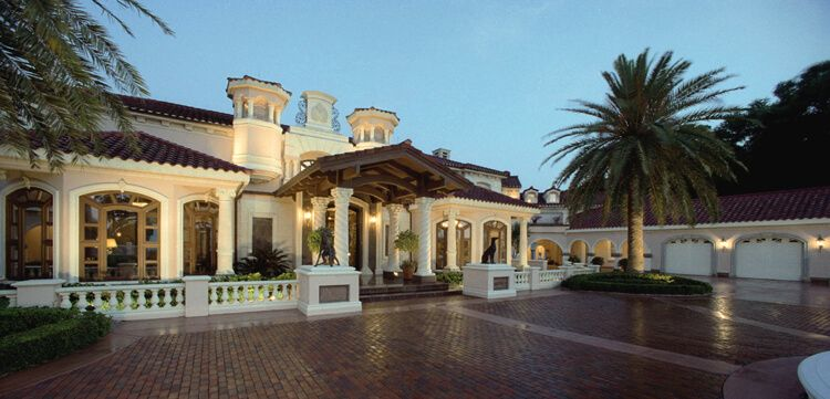 Mediterranean Italian Luxury Home Estate Plans