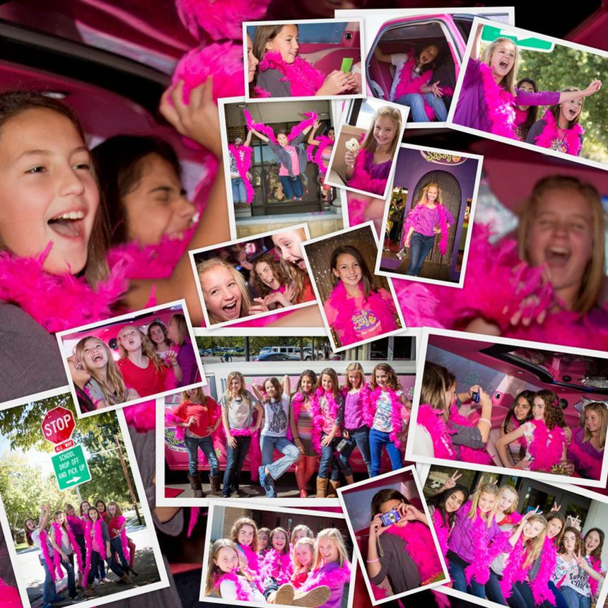 Sweet & Sassy Now Has A Party In The Pink Limo! Now THATS