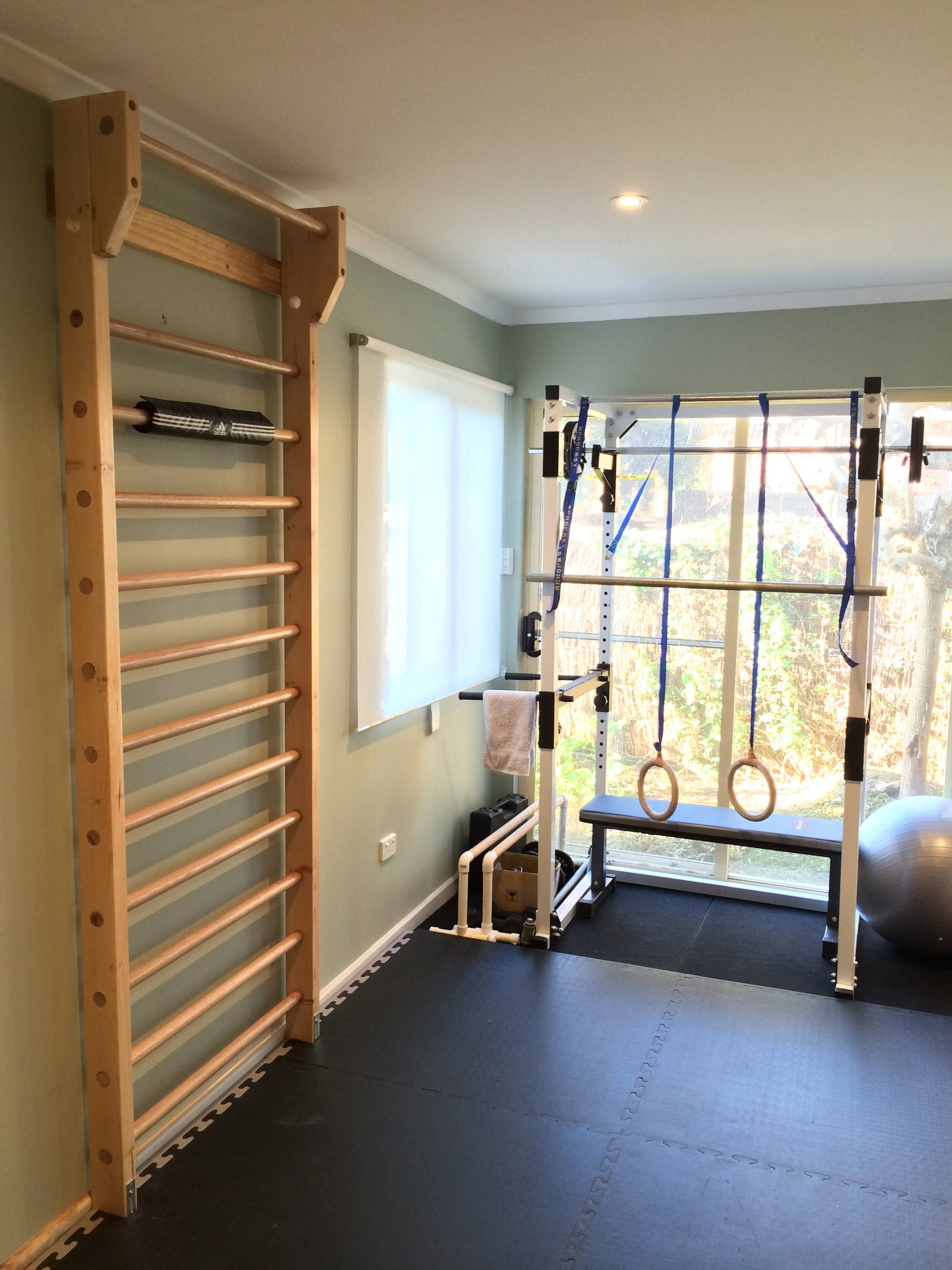 Bar2fit Wooden Wall Bars Stall Bars For Home Fitness And Exercising Homefitnessrooms Workout Room Home Diy Home Gym At Home Gym