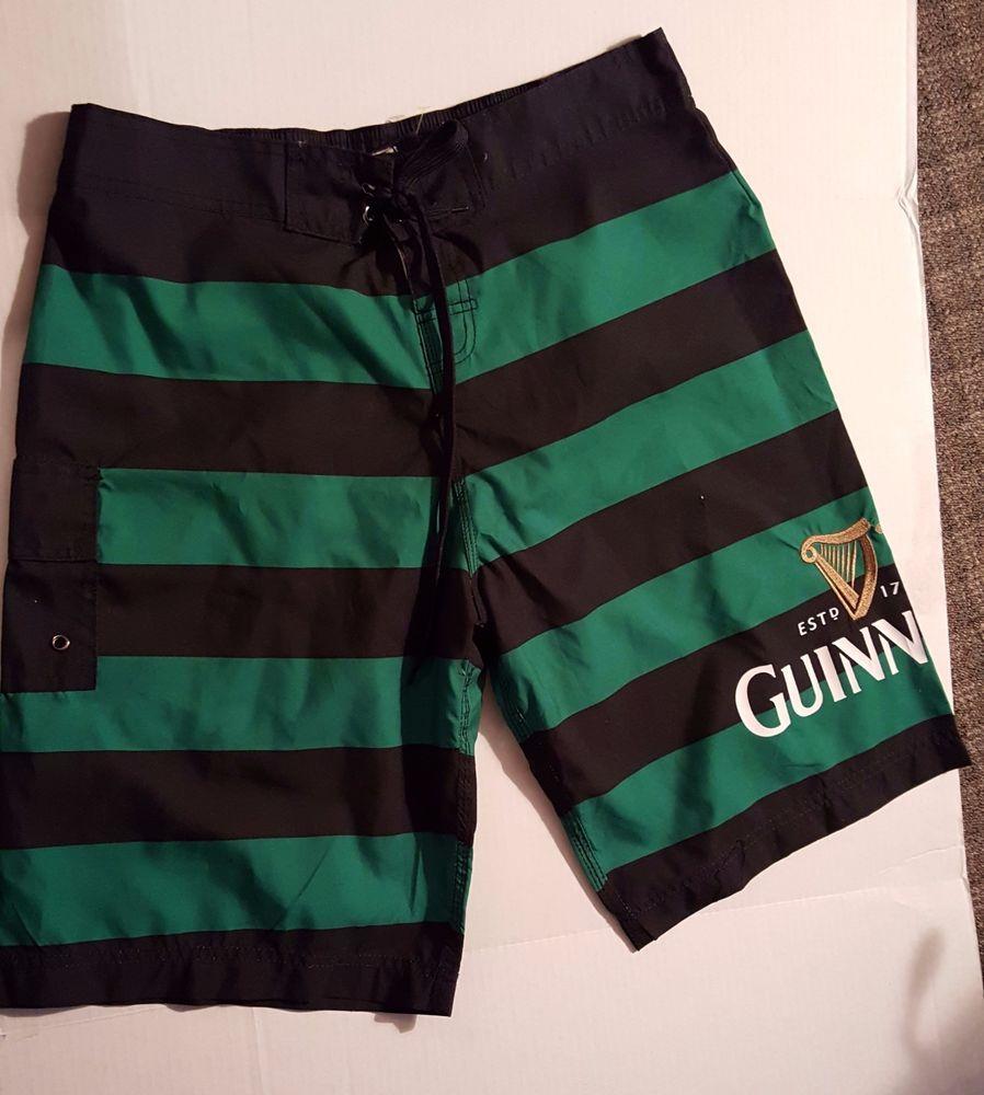 262333e3cd Men's GUINNESS Beer Swim Trunks Boardshort Swimsuit NWOT Large 34 #Guinness  #BoardShorts