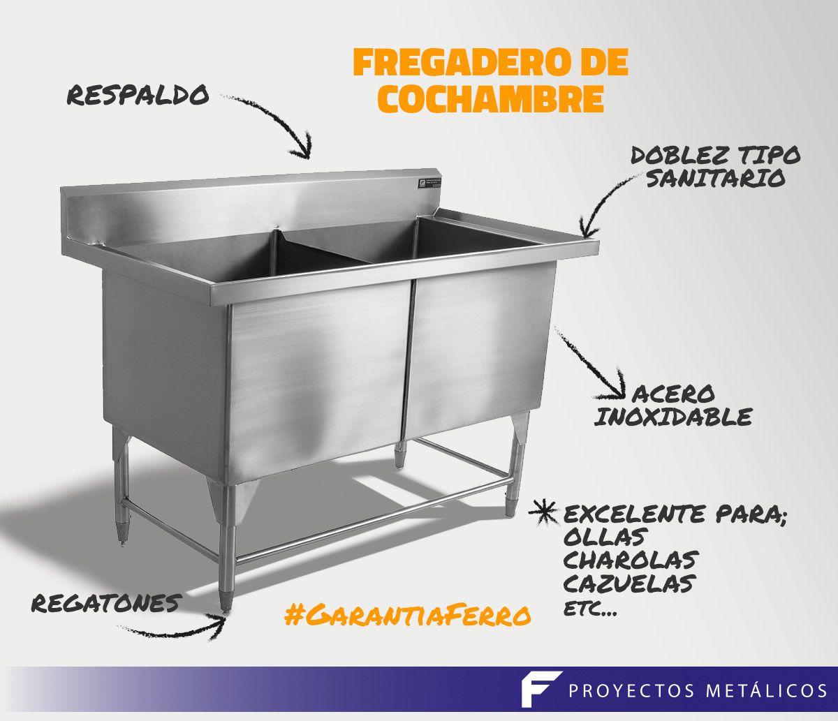 Fregadero para cochambre- acero inoxidable- cocinas industriales ...