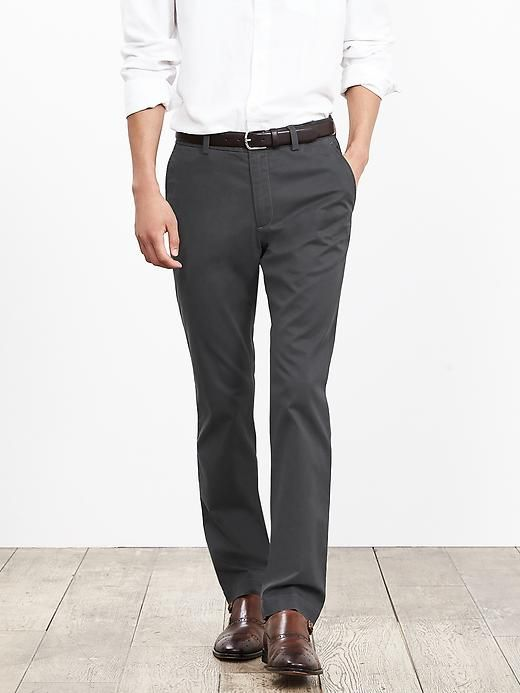fcf54daf99 Aiden Slim-Fit Chino | Banana Republic NOTE: Wear them with light brown  belt and light brown shoes and a black top (shirt/sweater/jacket).