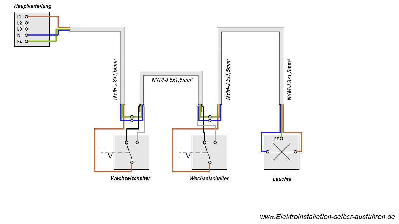 schaltplan lichtschalter wechselschaltung