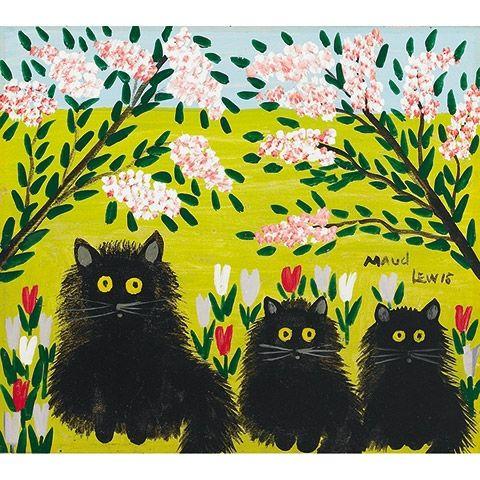 Maud Lewis Canadian Folk Artist Art Maud Lewis Cat Art
