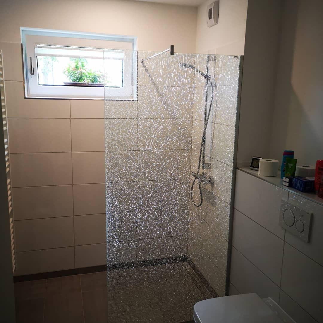 Walk In Duschwand aus CrashGlas Wc trennwände, Dusche