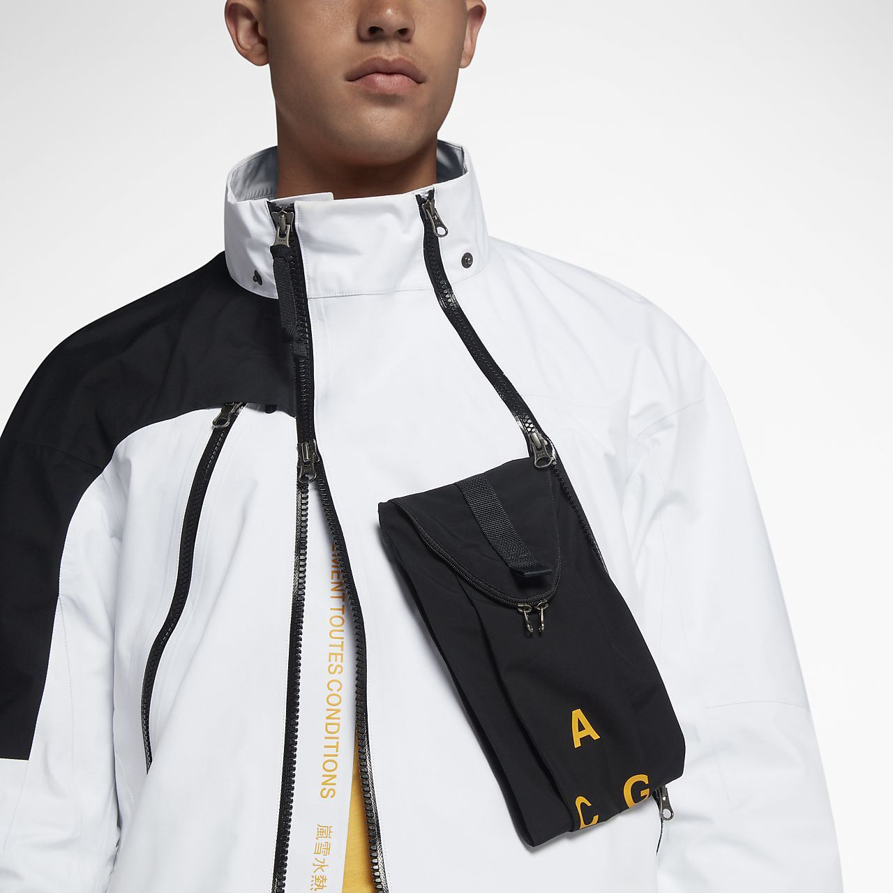 Nike NikeLab ACG Gore Tex Deploy Jacket White Black 923952 100 Size XL