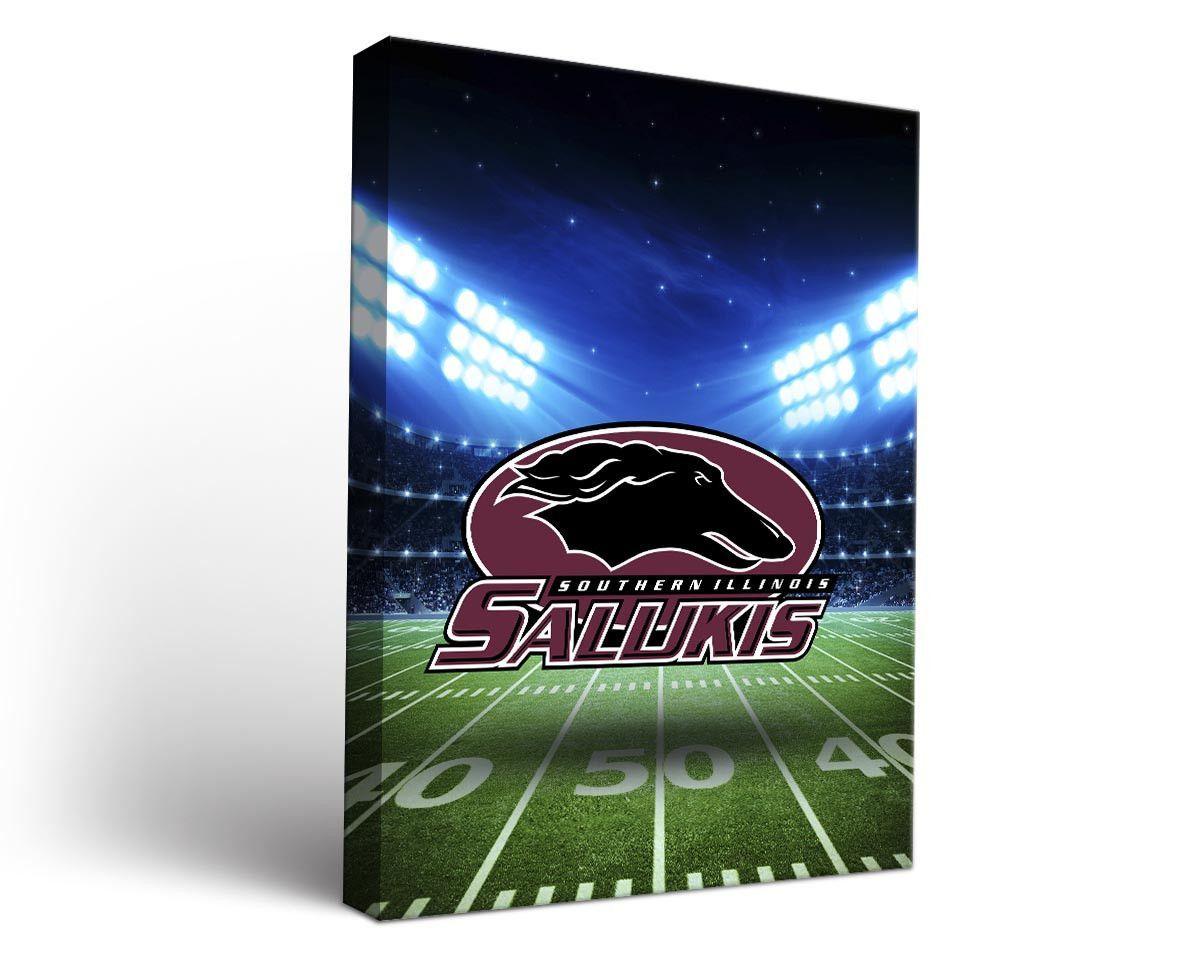 Southern Illinois Salukis Football Stadium Canvas Art Rectangle
