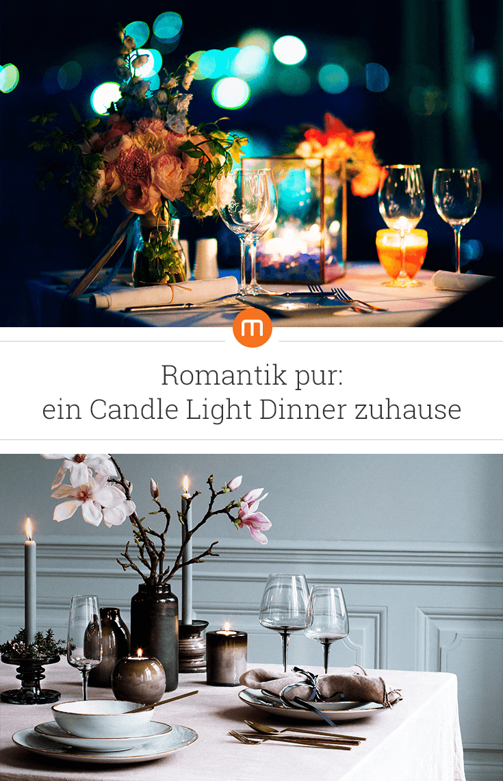 Romantik Pur Ein Candle Light Dinner Zuhause So Zauberst Du Mit
