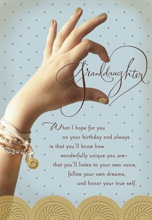 Follow Your Dreams Granddaughter Birthday Card