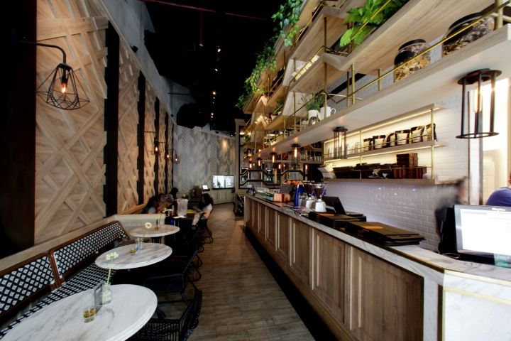 Eric Kayser Cafe By Metaphor Interior Jakarta Indonesia Retail Design Blog Cafe Furniture Cafe Pictures Pub Design
