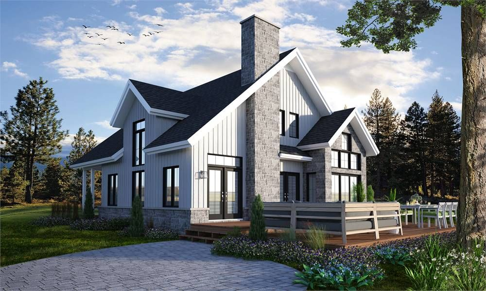 Award Winning Cottage Style House Plan 7378 The Touchstone 3 Drummond House Plans Cottage Style House Plans Cottage House Plans
