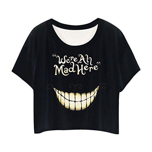 3757fd0480048 MingTai Impresion Camiseta Chica Con Cuello Redondo Camisetas Cortas Personalizadas  Camisas Blancas Mujer Basicas Divertidas Suelto  camiseta  starwars ...