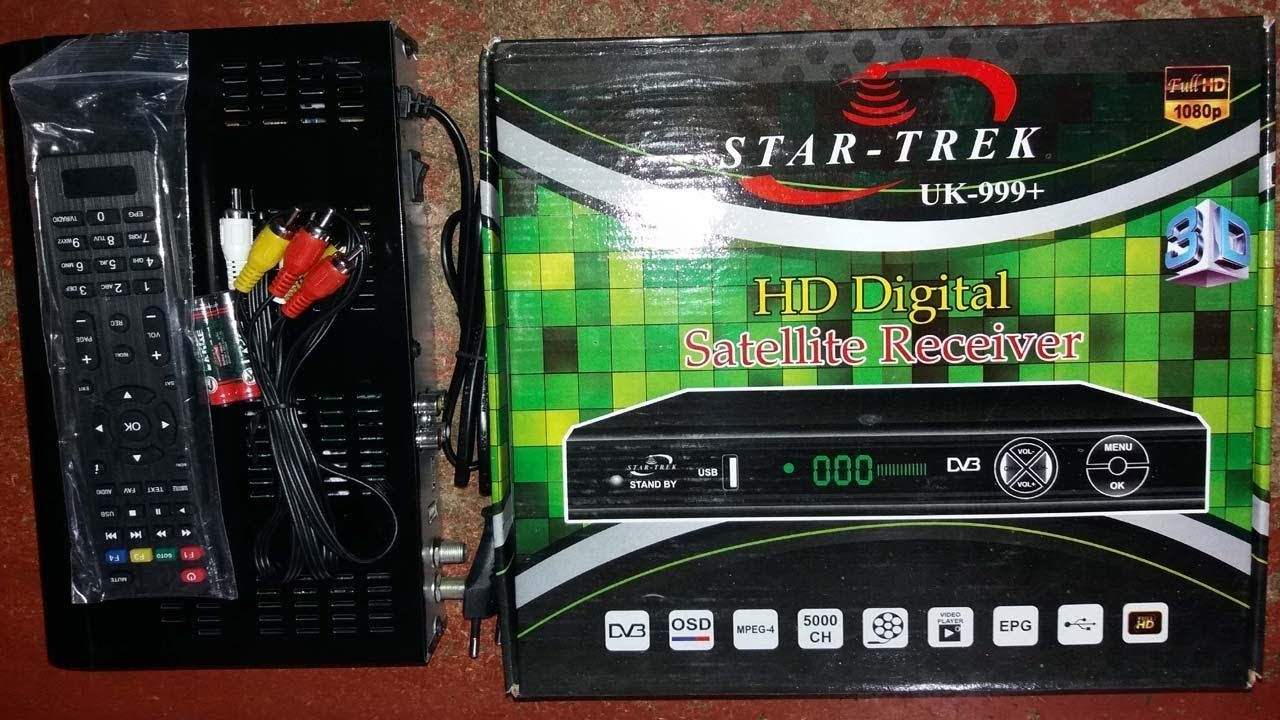 star trek uk 999+ hd Digital Satellite Receiver Review 2018 | How To