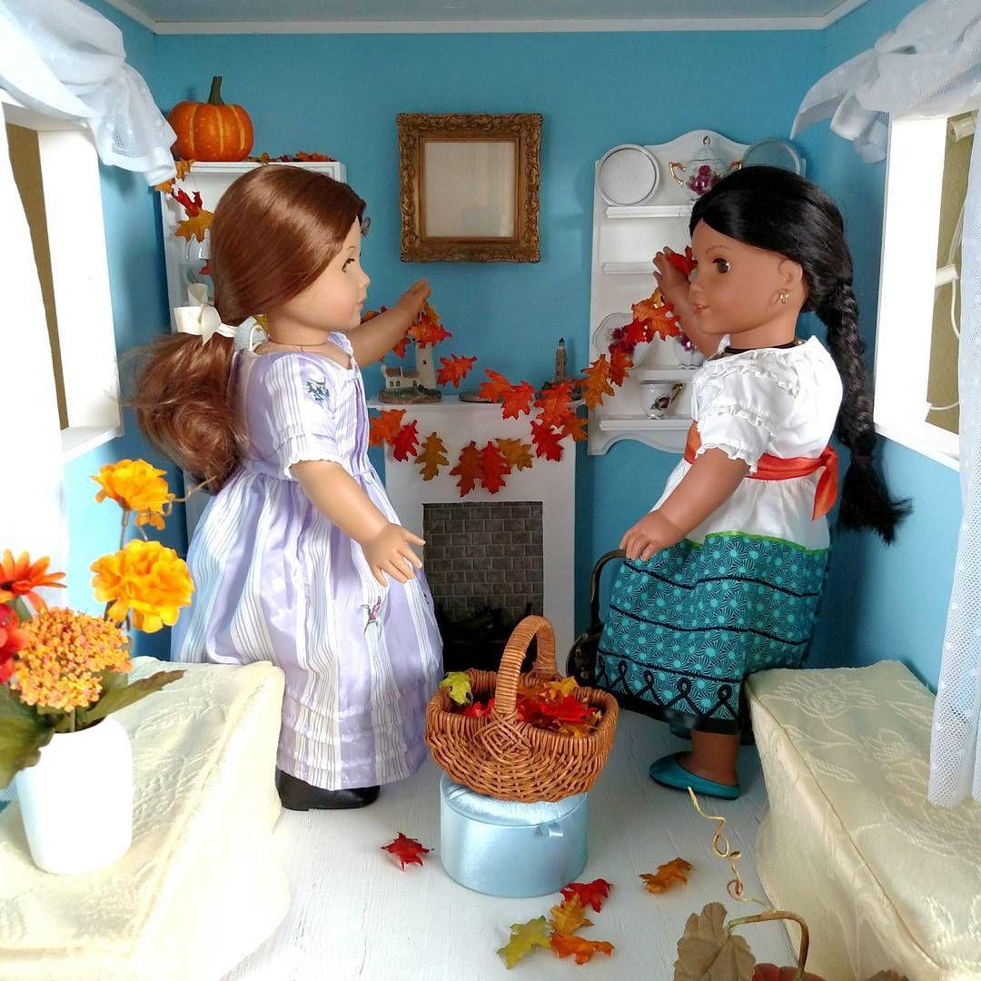 Josefina Birthday Dress: Felicity And Josefina Put Those Gathered Leaves To Good
