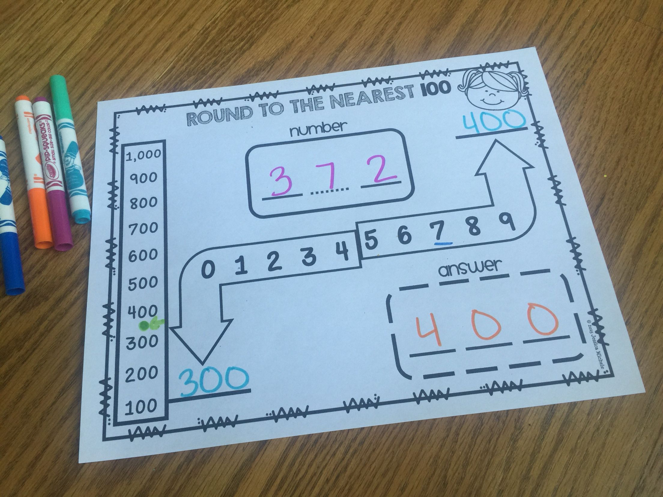 These rounding graphic organizers will help your students round to ...